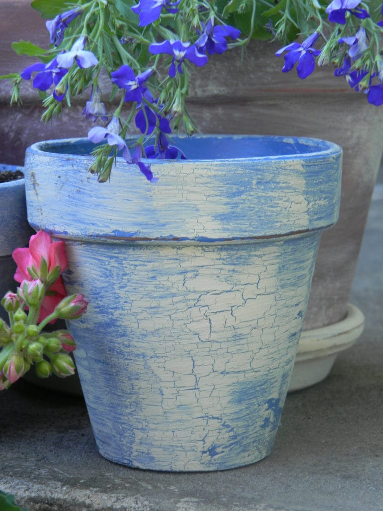 Creating Vintage, French Flower Pots