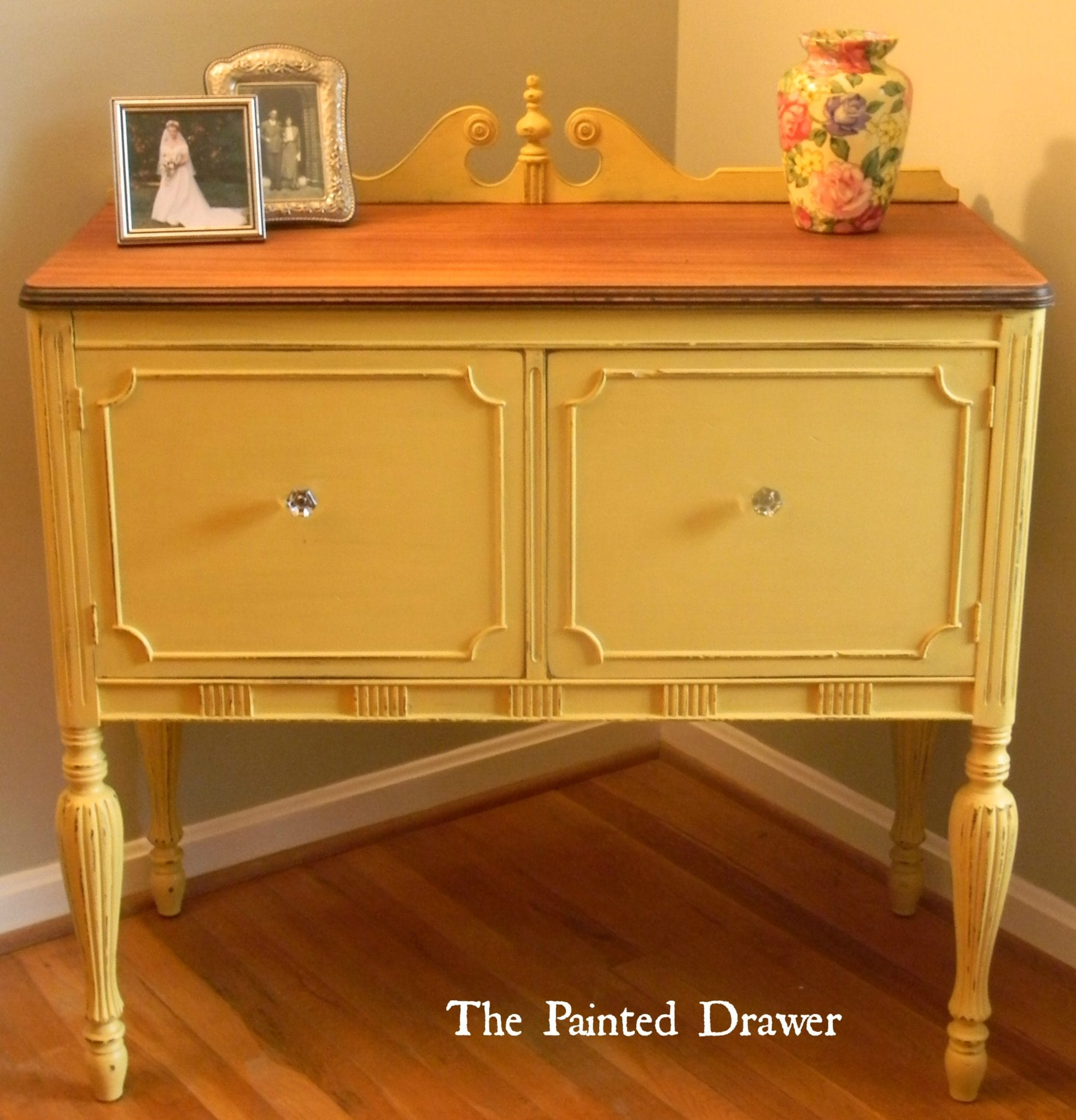Mustard Kitchen Paint: Vintage Mustard Buffet
