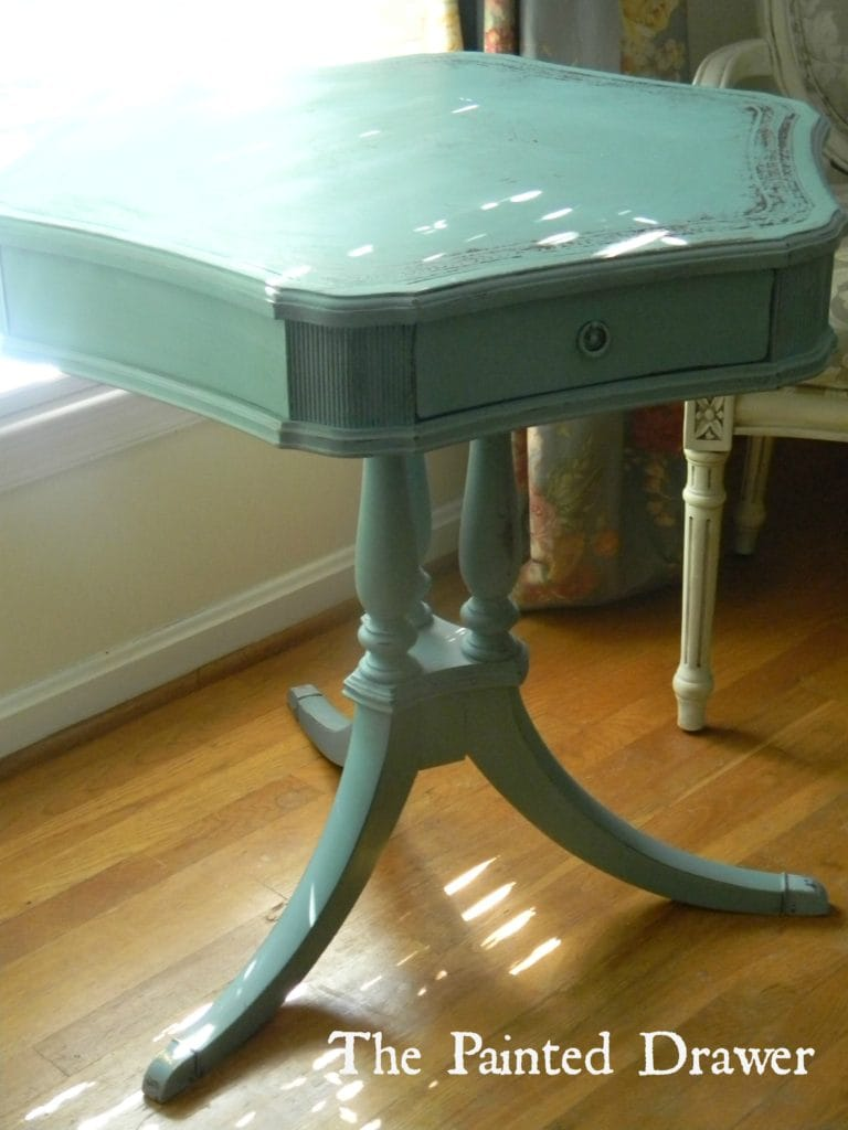 A Blue Drum Table
