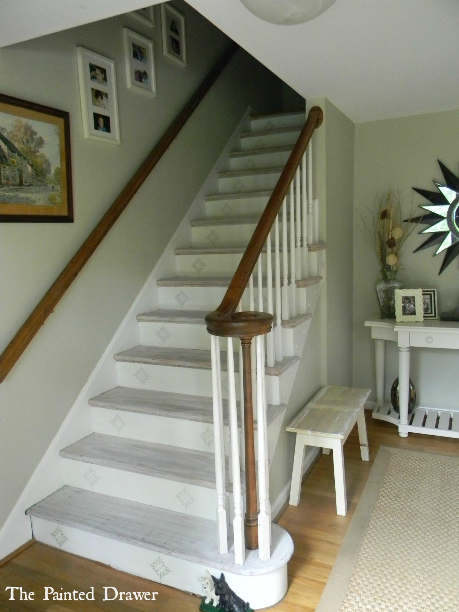 Whitewashed Stairs At Www.thepainteddrawer.com ...