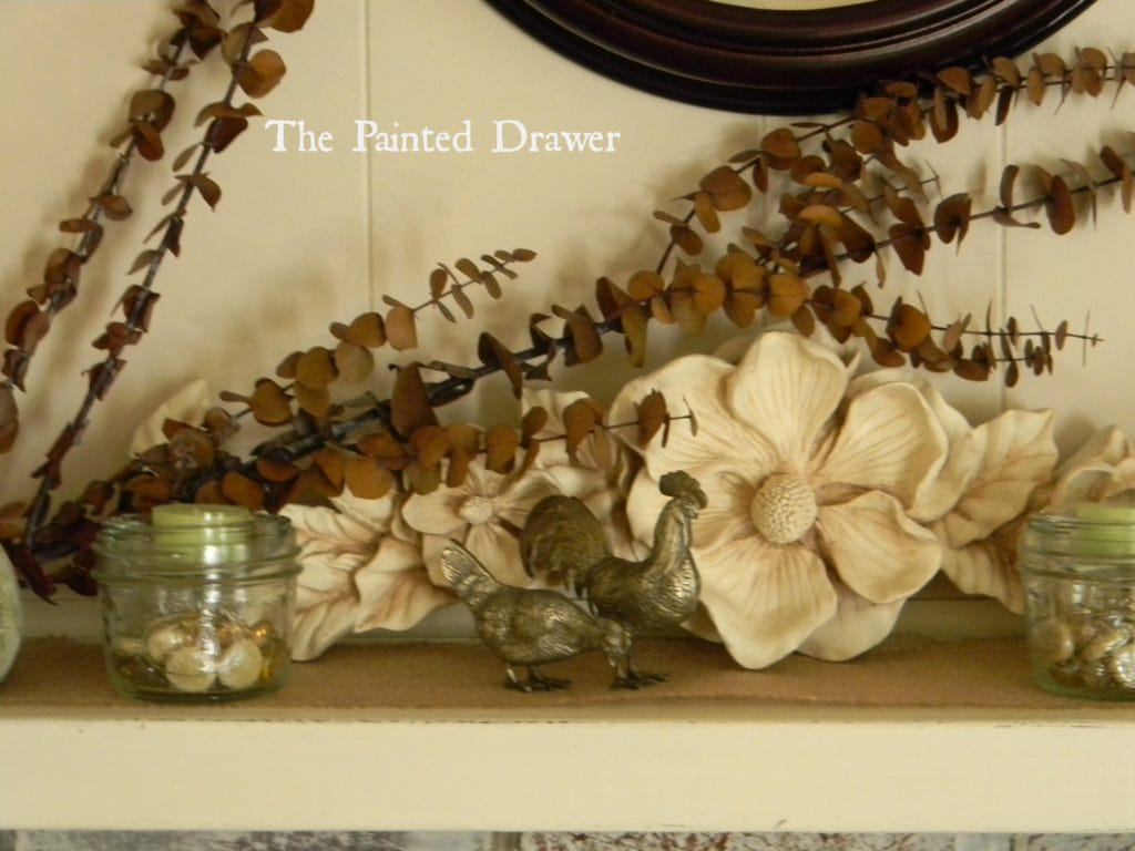 Whitewashed Brick and a Fall Mantel