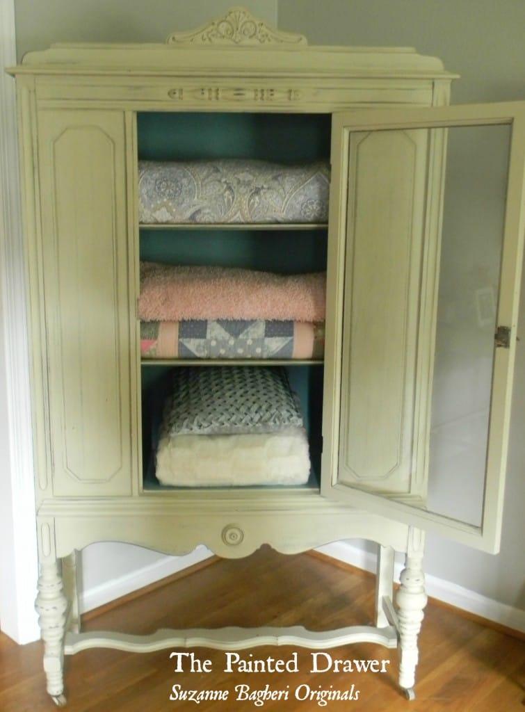 Vintage Linen Cabinet