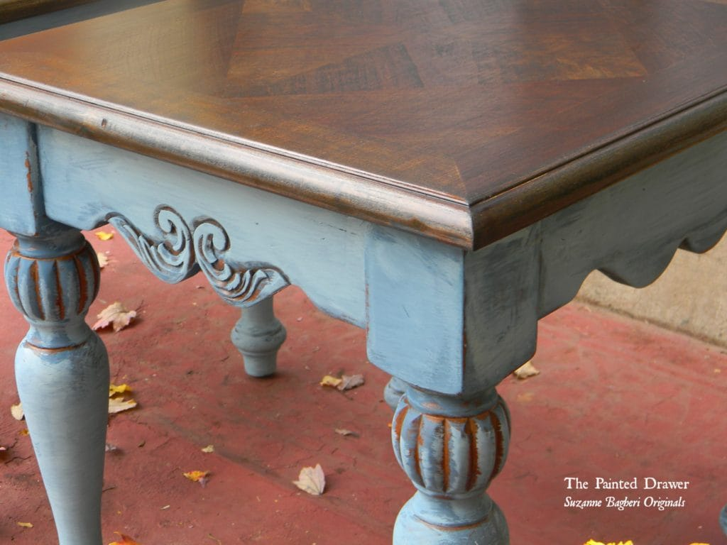 Vintage Blue Table