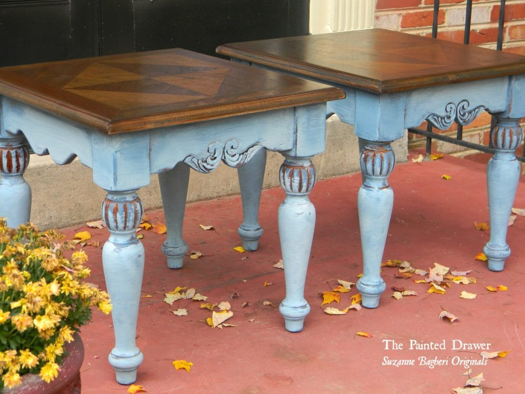 Vintage Blue Tables