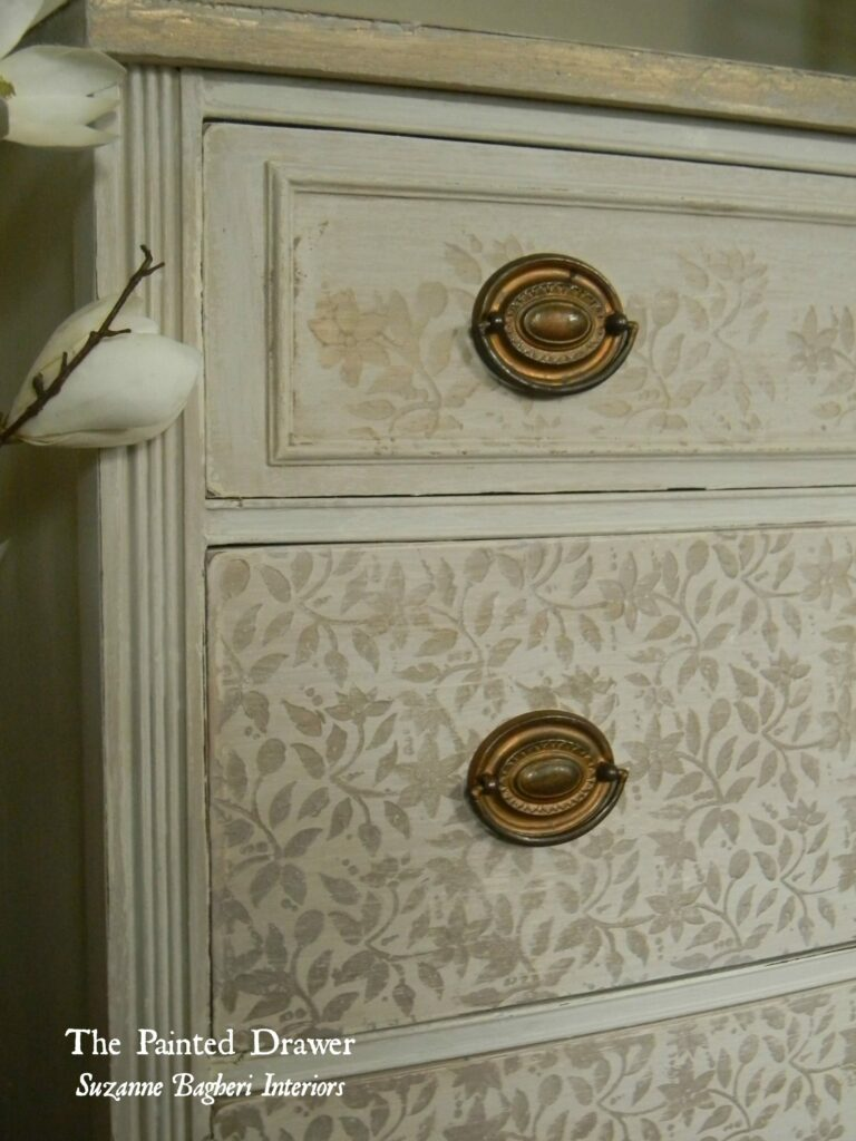 Stenciled Drawers