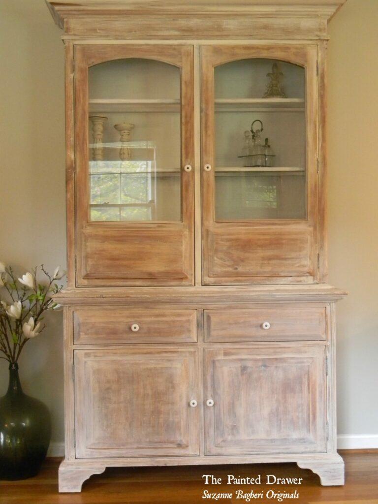 A Whitewashed Farmhouse Cabinet