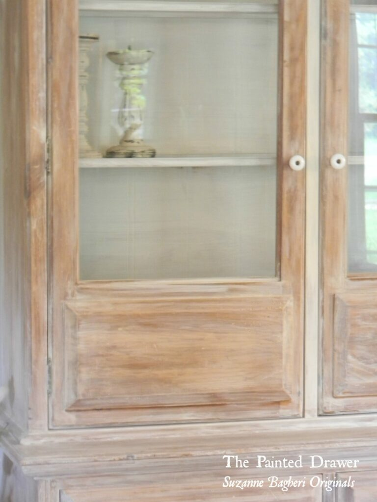 A Whitewashed Farmhouse Cabinet