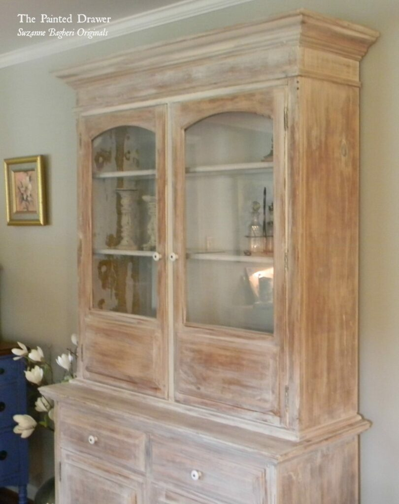 A Whitewashed Farmhouse Cabinet -