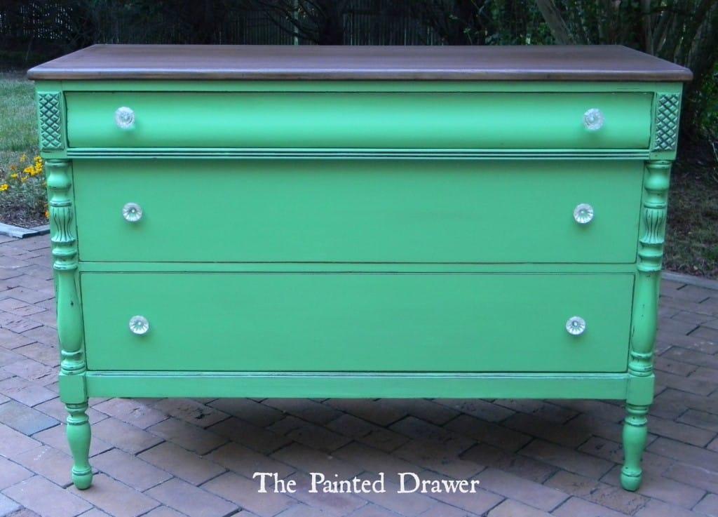 Emerald Dresser www.thepainteddrawer.com