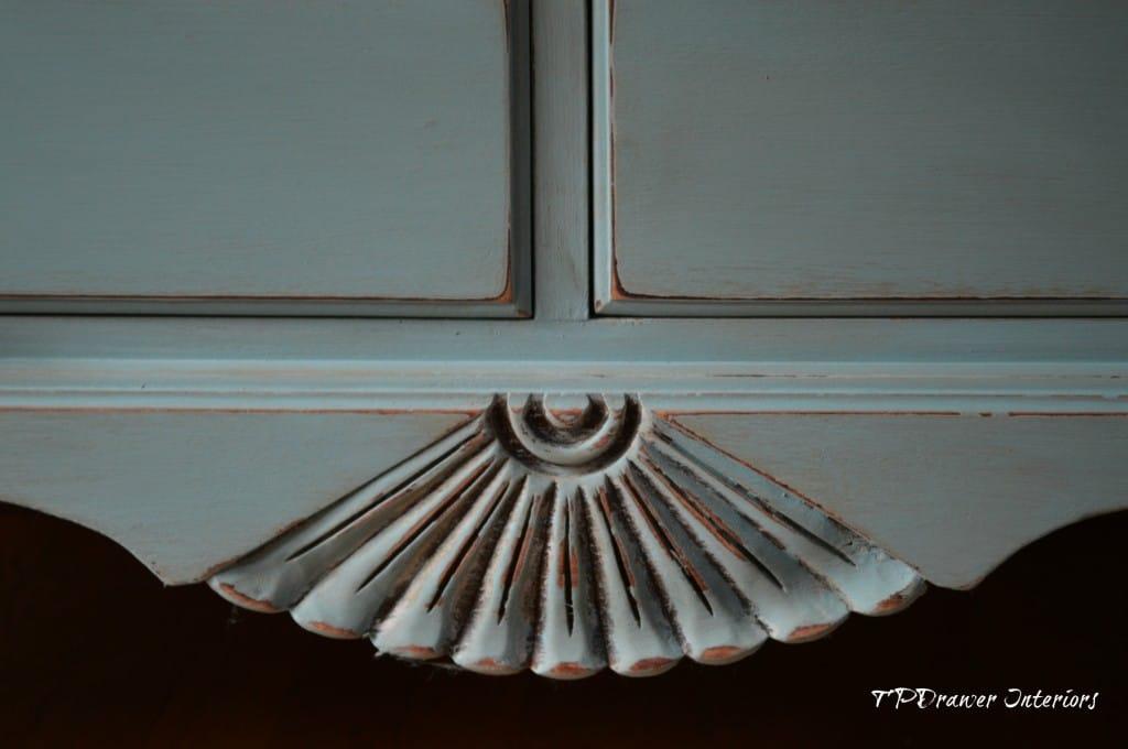 Vintage Shell Dresser from www.ThePaintedDrawer.com
