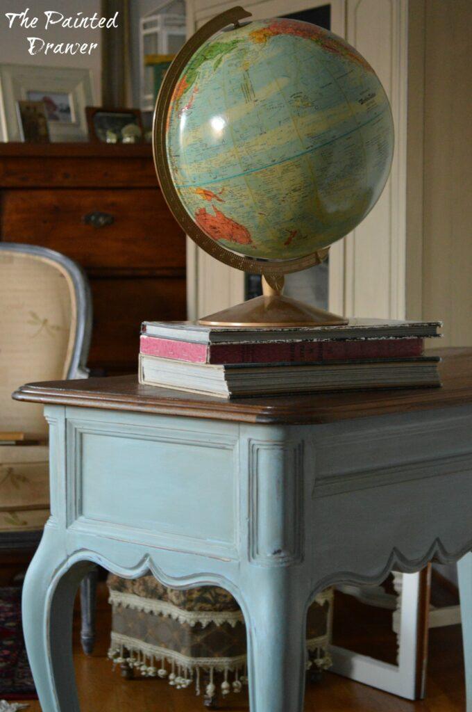 Vintage Globe www.thepainteddrawer.com