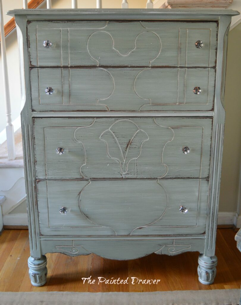 Whitewashed Farmhouse Dresser www.thepainteddrawer.com