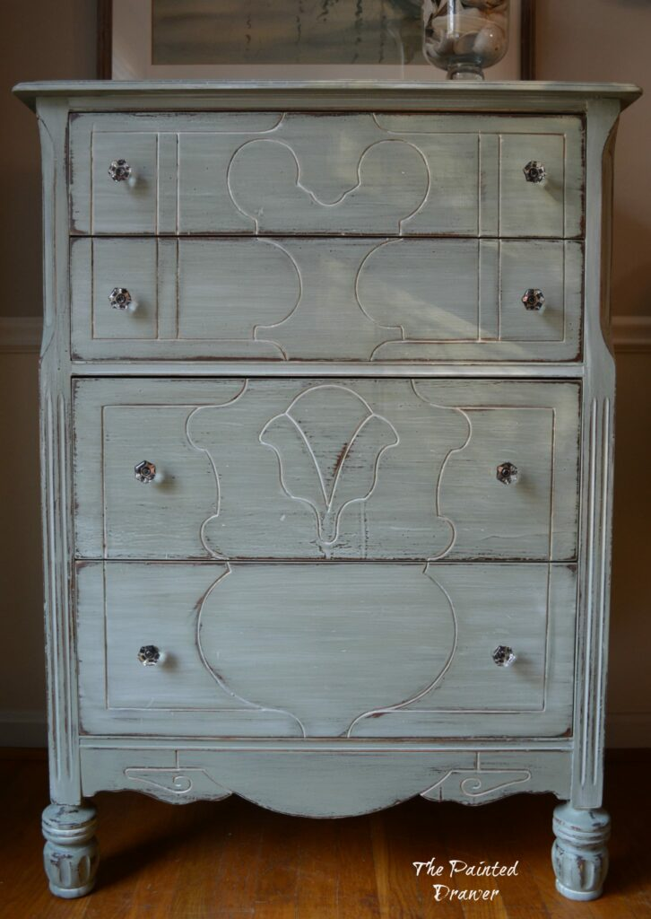 A Whitewashed Farmhouse Dresser