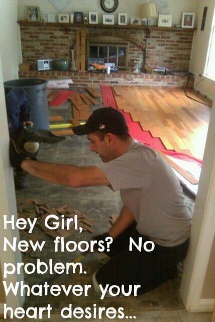 Floor Install www.thepainteddrawer.com