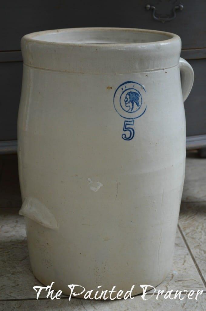 Vintage Ceramic Farmhouse Jug www.thepainteddrawer.com