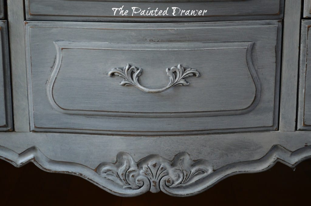 Vintage French Drexel Dresser www.thepainteddrawer.com