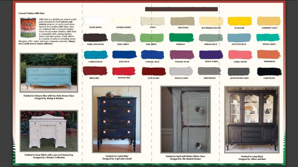General Finishes Milk Paint Brochure www.thepainteddrawer.com