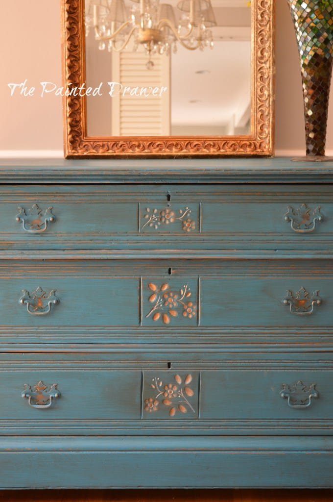 Eastlake painted dresser
