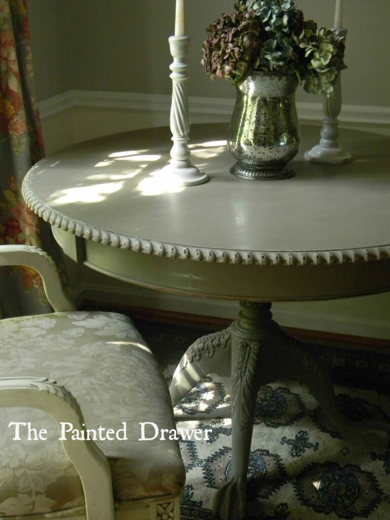 Vintage French Table www.thepainteddrawer.com