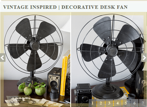 Vintage Fans from Decor Steals
