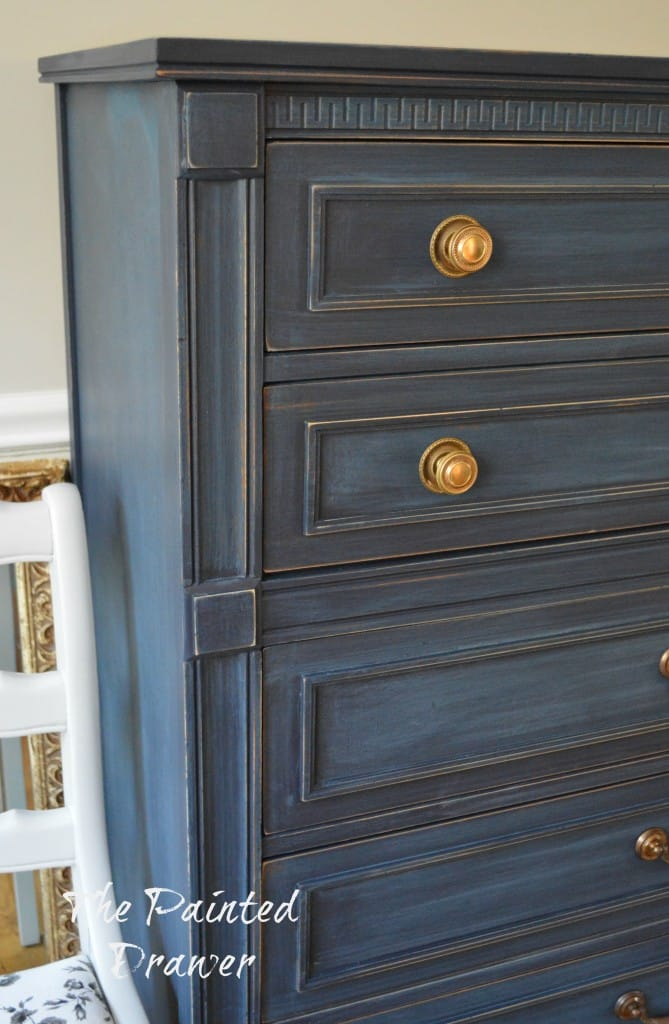 Coastal Blue dresser www.thepainteddrawer.com