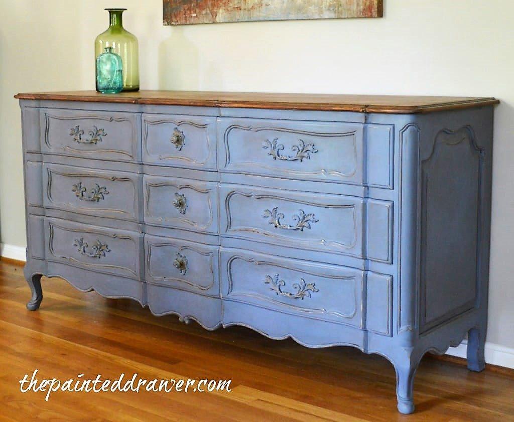 Old Violet Vintage Dresser Makeover