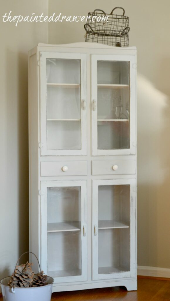 The Farmhouse Cabinet Before and After
