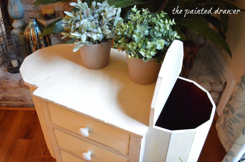 Martha Washington Sewing Table www.thepainteddrawer.com