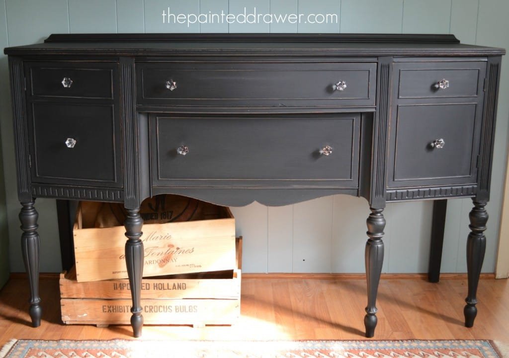 Midnight Sideboard www.thepainteddrawer.com
