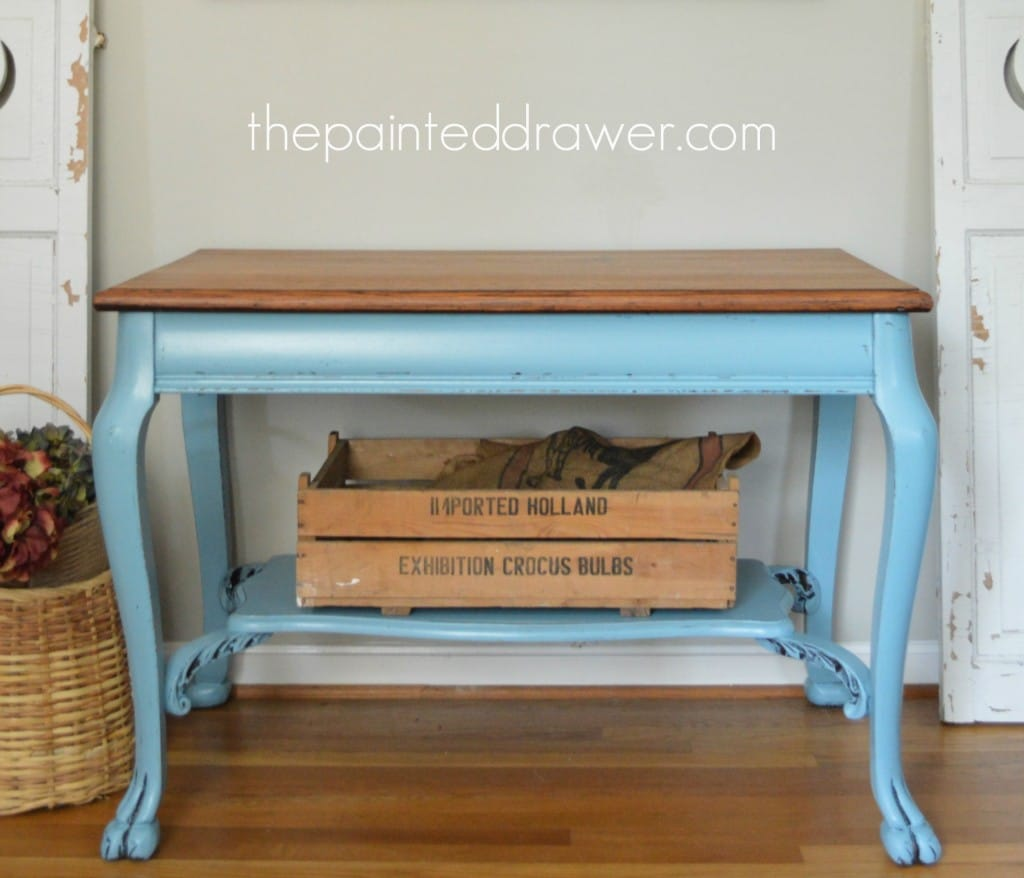 Traditional to Halcyon Blue Farmhouse Table