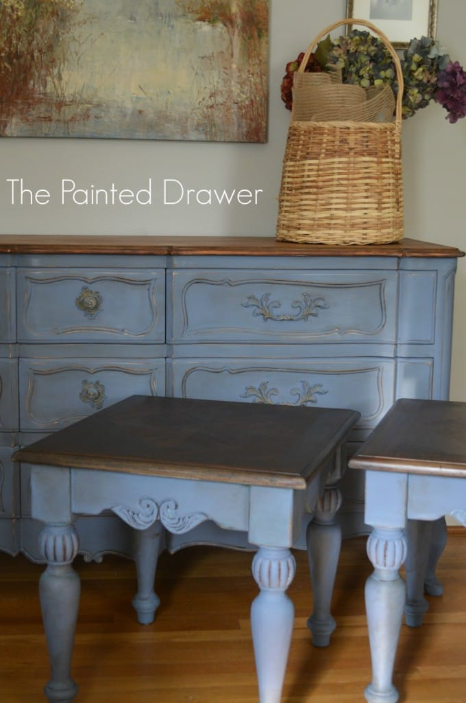 Old Violet French Dresser www.thepainteddrawer.com