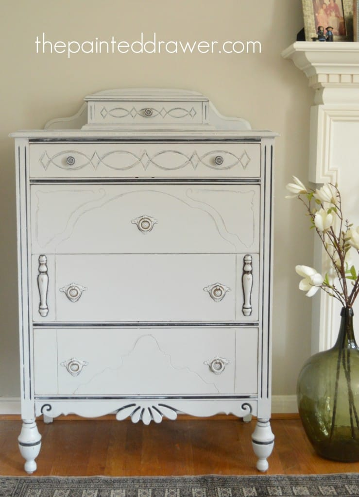 Vintage Gray Chest of Drawers