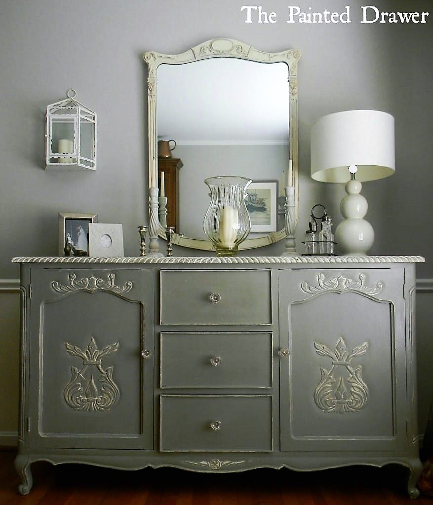 French Grey Sideboard