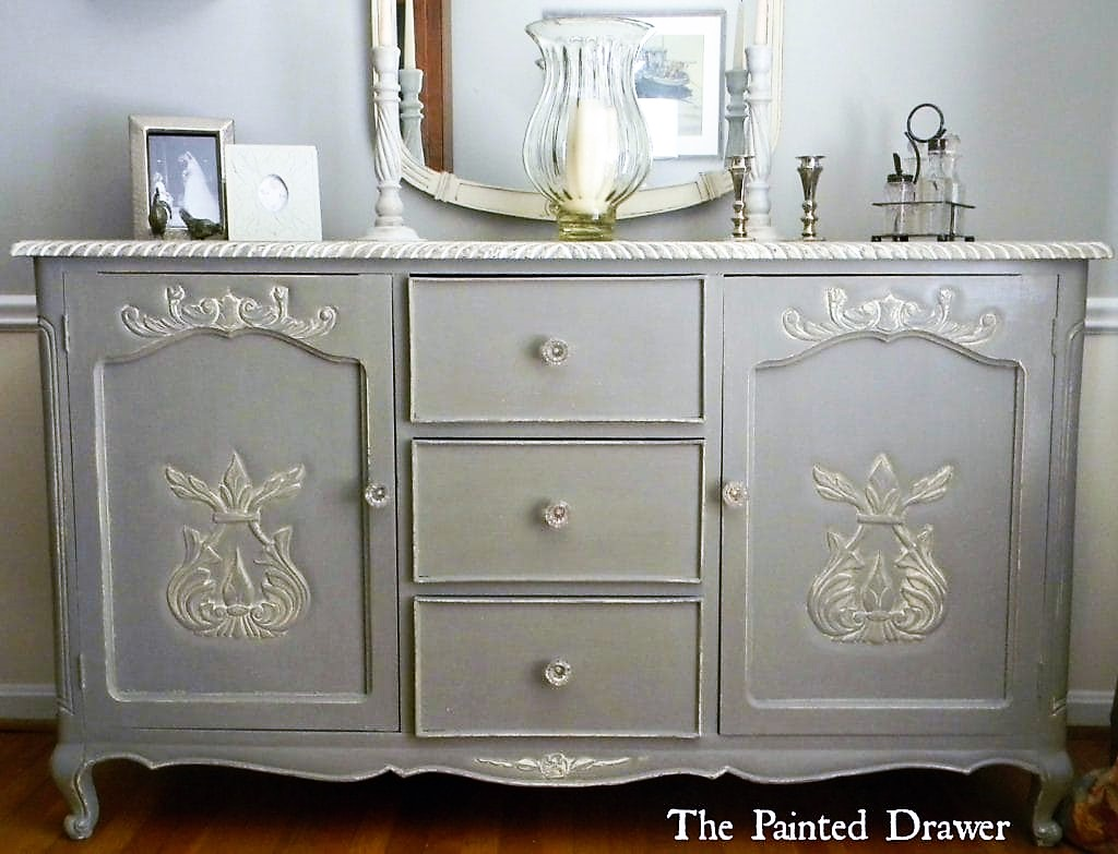 French grey sideboard for Painted buffet sideboard