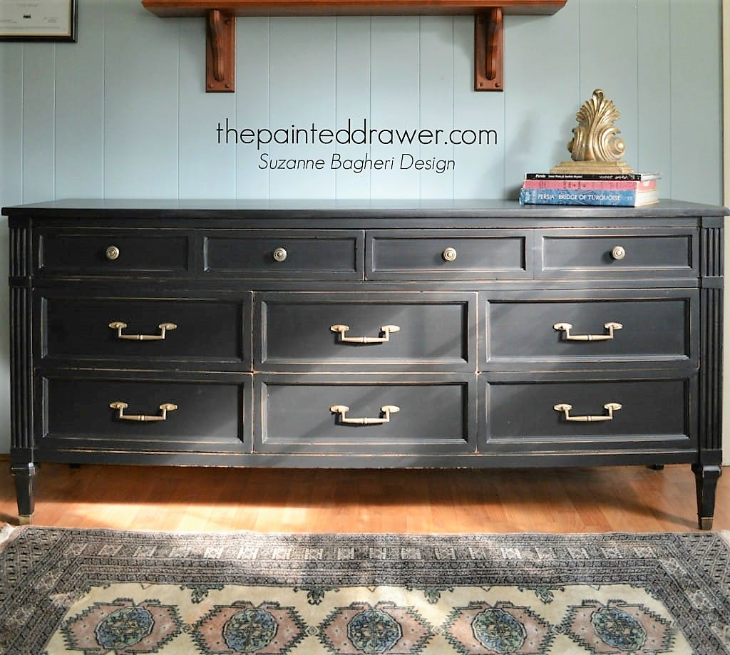 Lamp Black Dresser Makeover