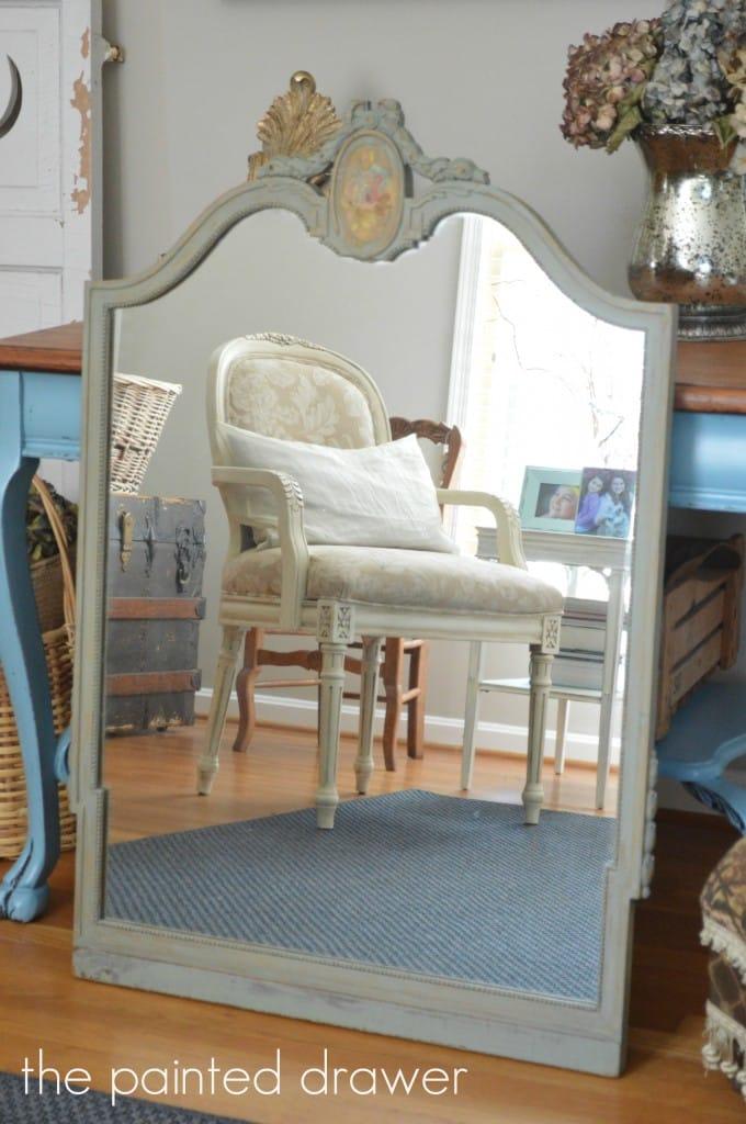 Vintage Mirror www.thepainteddrawer.com