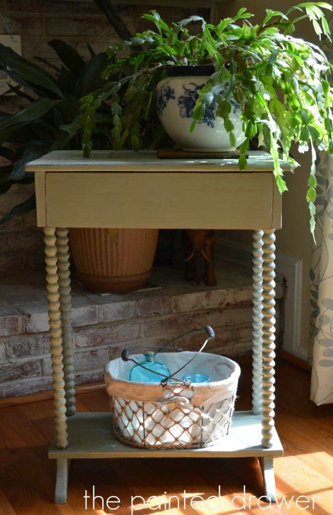 Barley Legged Table www.thepainteddrawer.com