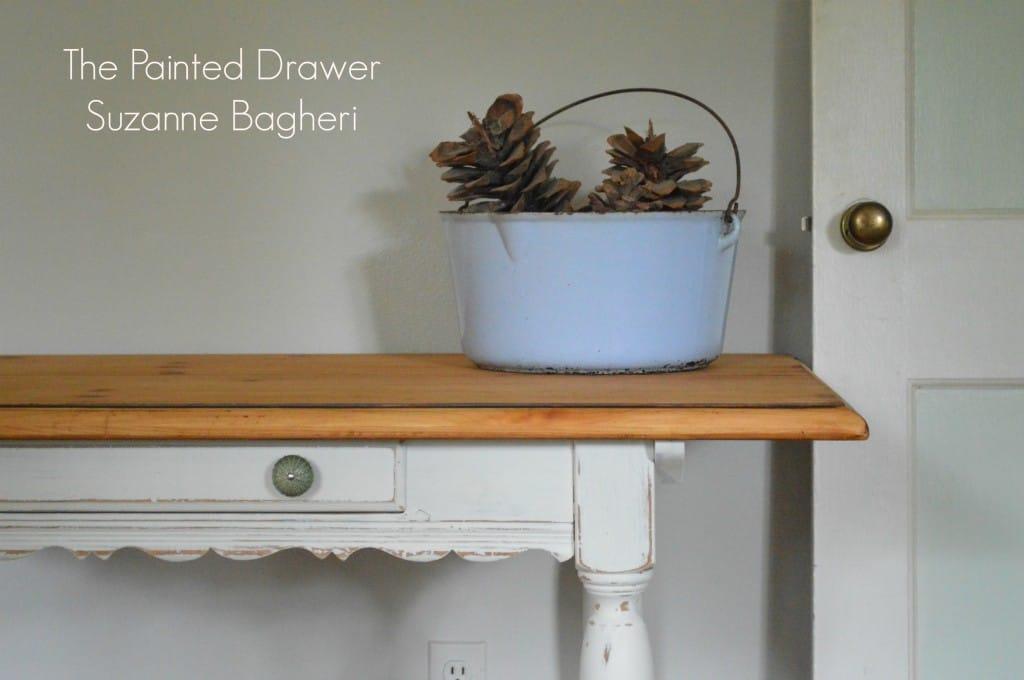 Pine French Country Desk www.thepainteddrawer.com
