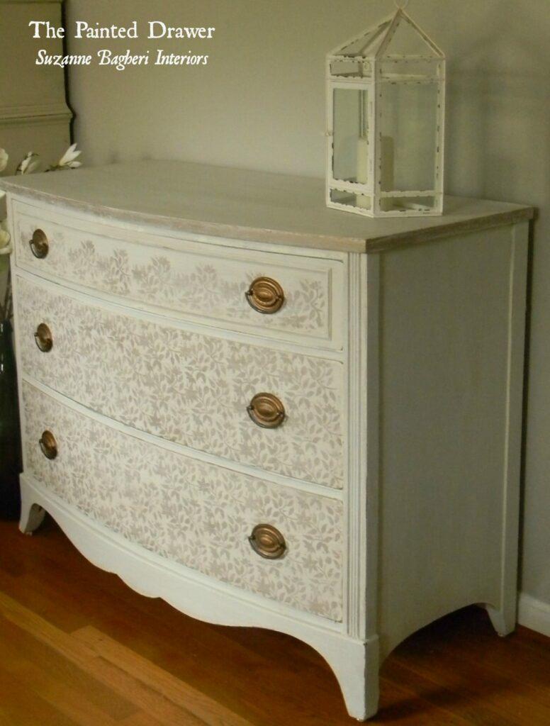 Shabby Glam Dresser www.thepainteddrawer.com