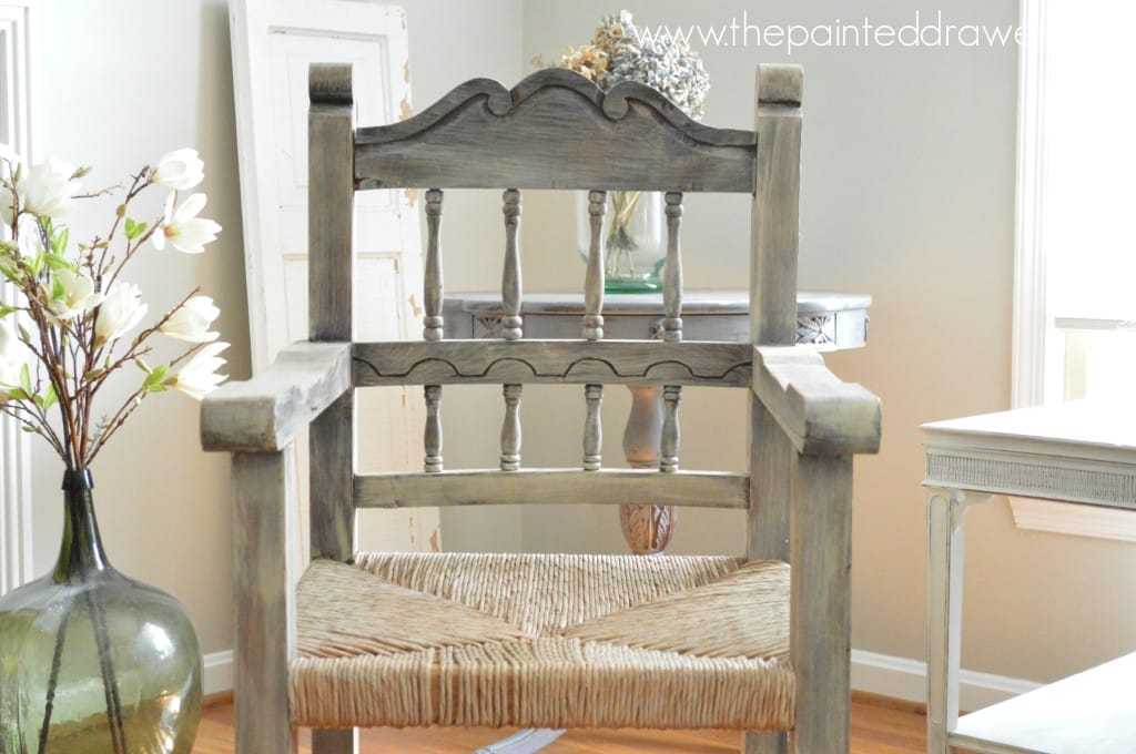 Farmhouse Mexican Chair www.thepainteddrawer.com