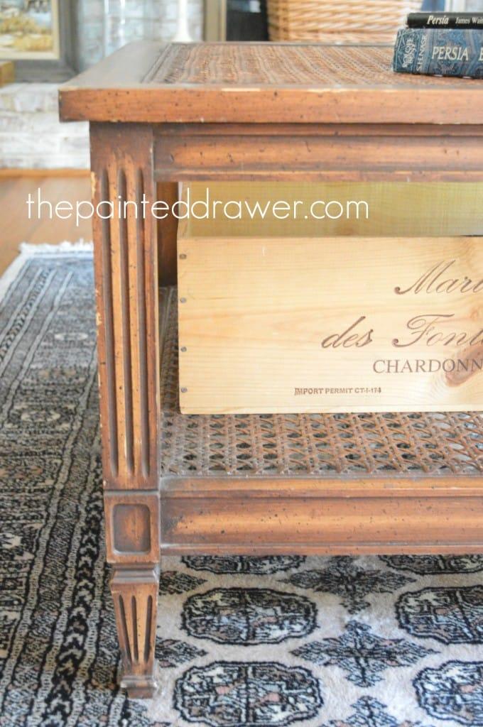 Vintage Coffee Table www.thepainteddrawer.com