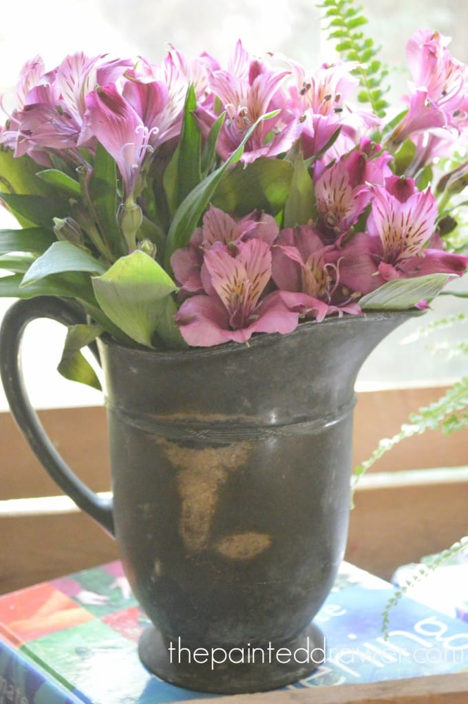 A Very Old Pewter Jug