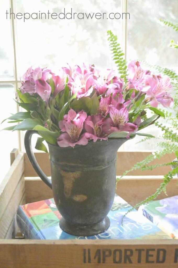 Pewter Vase www.thepainteddrawer.com