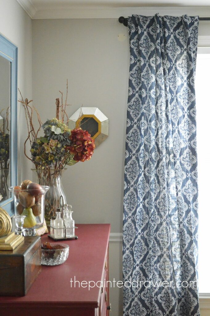 The Dining Room and a Pop of Blue