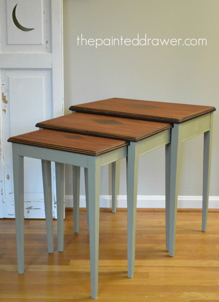 Nesting Tables www.thepaintedrawer.com