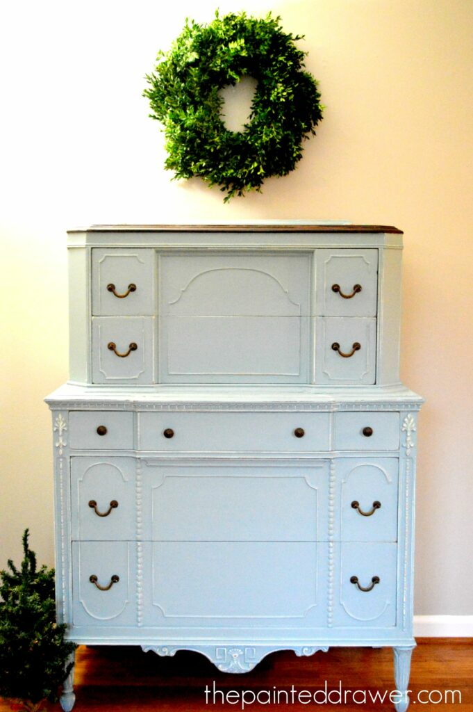 The Vintage Chest in Persian Blue – Before and After