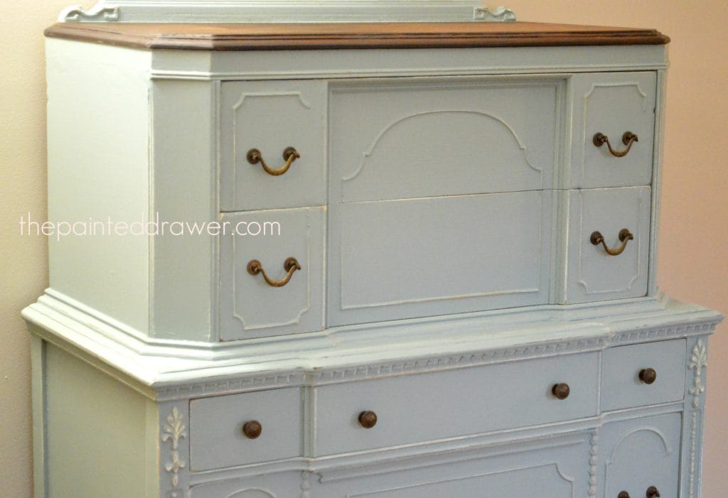 Persian Blue Vintage Chest www.thepainteddrawer.com