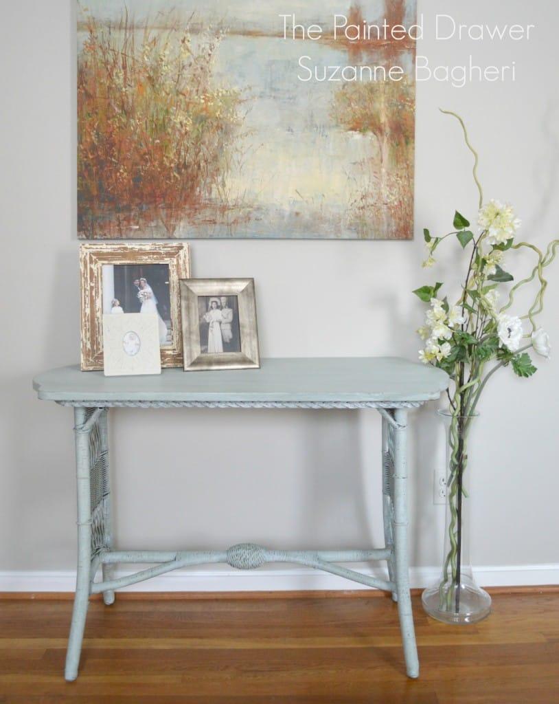 Basil Table www.thepainteddrawer.com
