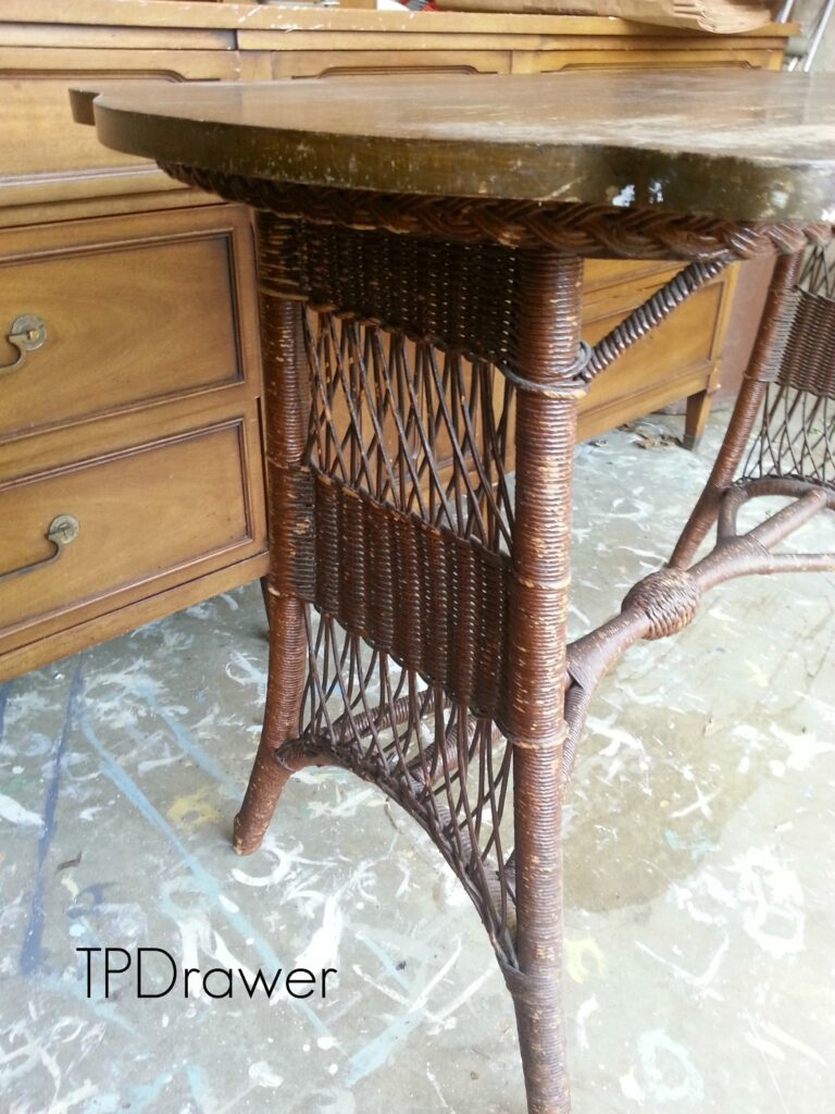 Favorite Find Monday – A Vintage Wicker Table