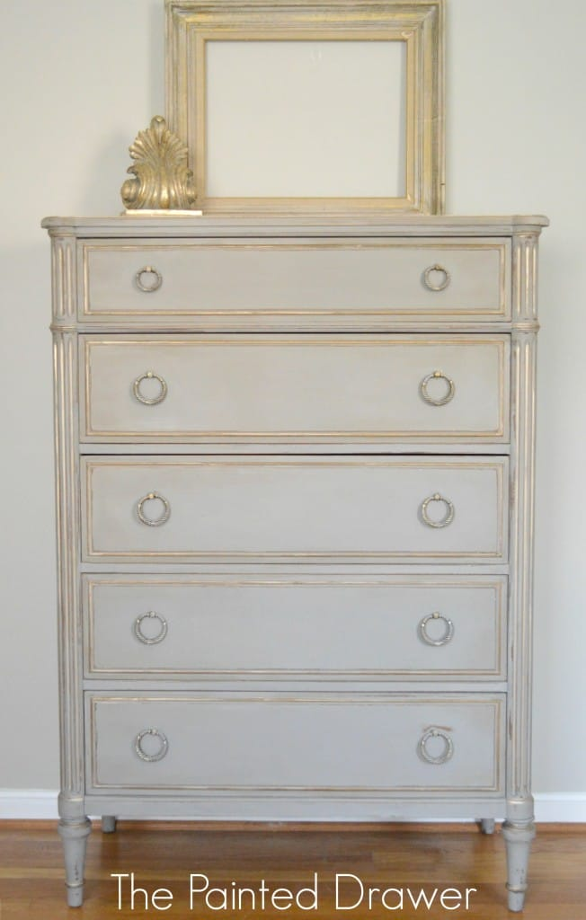 Before And After A French Linen And Gold Vintage Chest